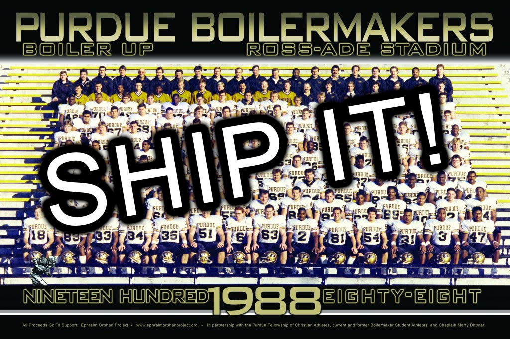1988 Team Poster, Large - SHIPPED TO YOU